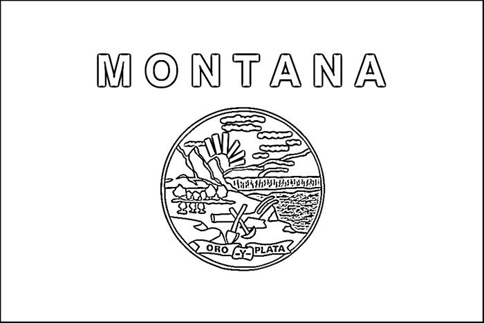 Montana Flag Coloring Page Purple Kitty Coloring Pages Color
