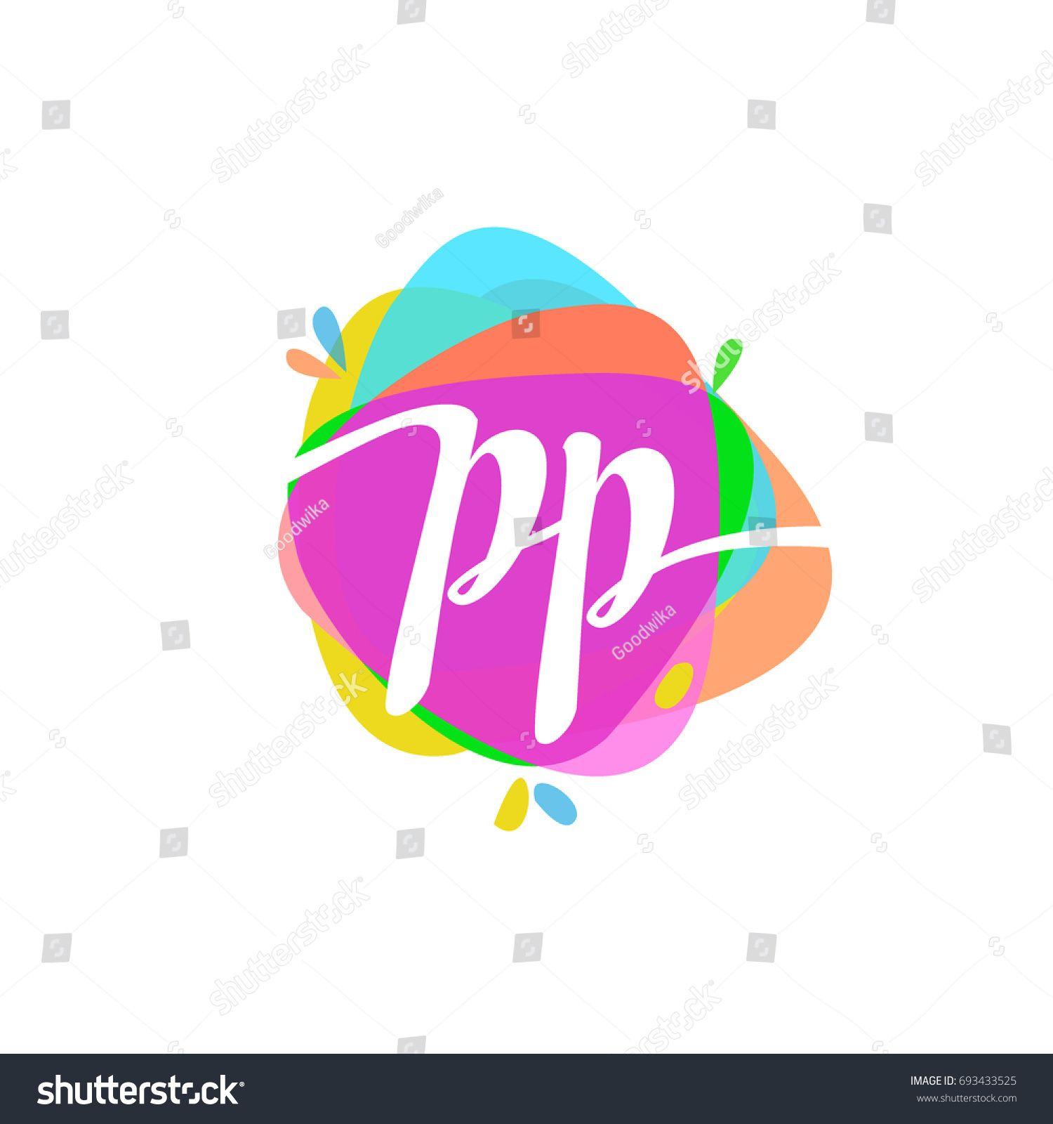 Letter PP logo with colorful splash background. | Logo inspiration ...