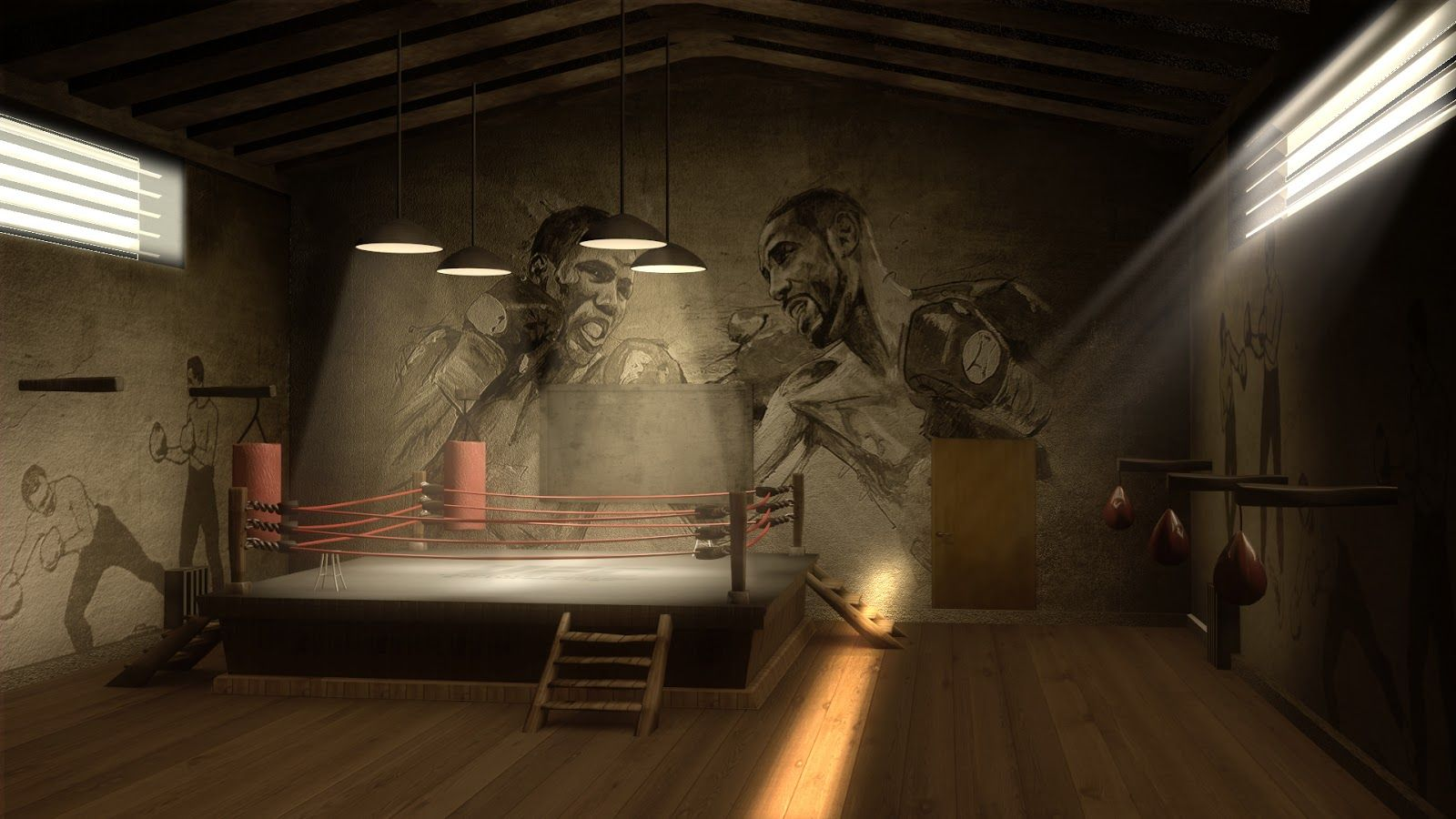 Boxing gym background viewing gallery for boxing gym wallpaper