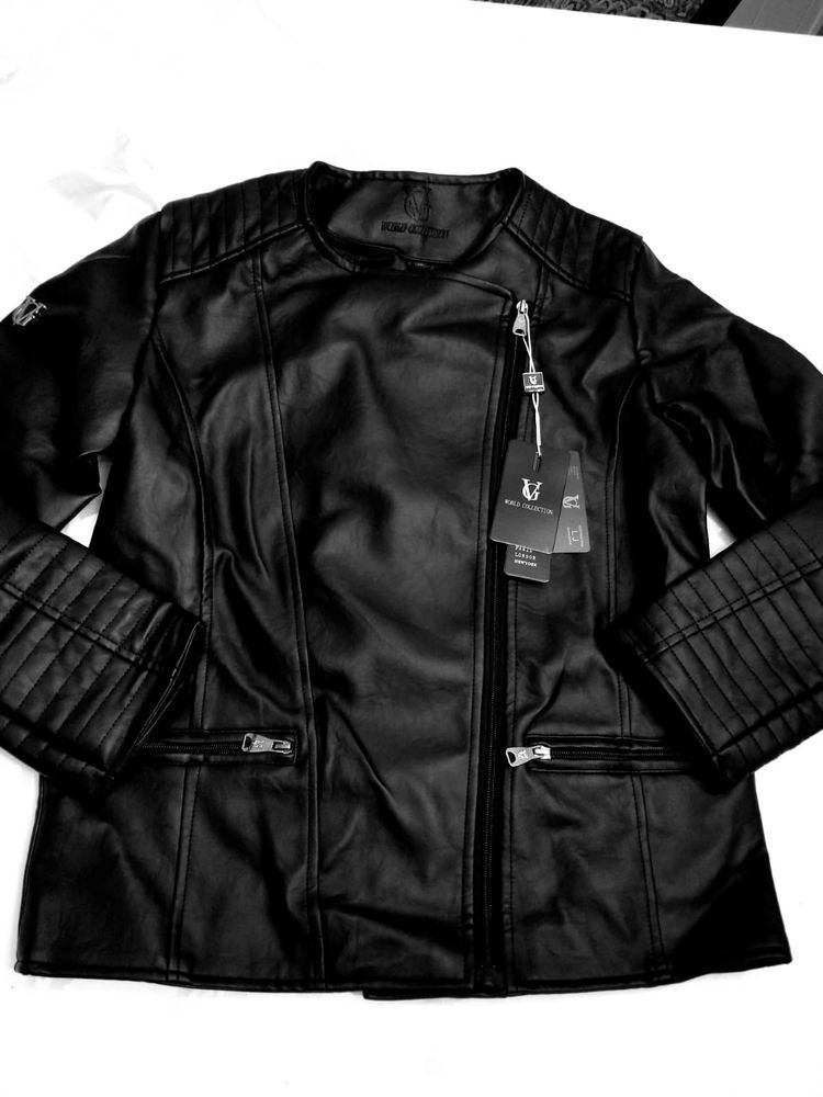 5b6a1079bdb Vg luxury world collection Mens Black Leather Jacket Medium with tags   fashion  clothing  shoes  accessories  mensclothing  coatsjackets  ad  (ebay link)