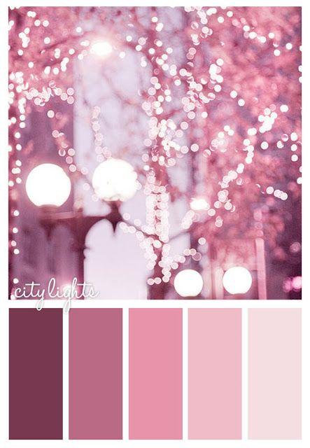 City Lights #color #scheme #pink