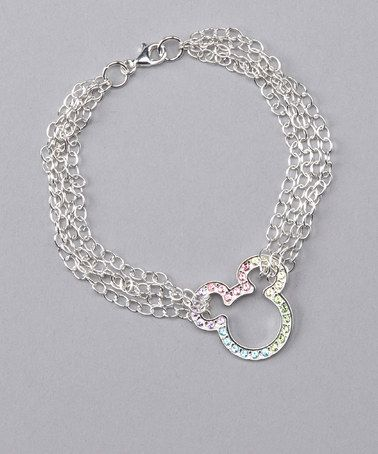Take a look at this Sterling Silver Mickey Bracelet by Mickey Mouse Jewelry Collection on #zulily today!