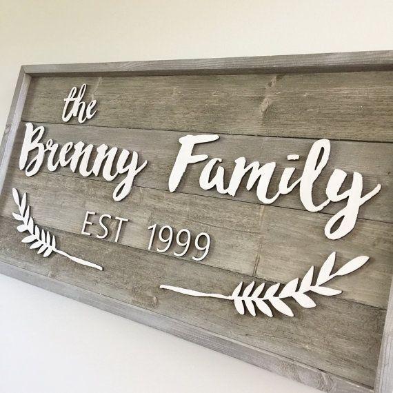Barnwood Shiplap Family Sign Name Sign Established By Freestylemom Family Wood Signs Family Name Signs Family Signs