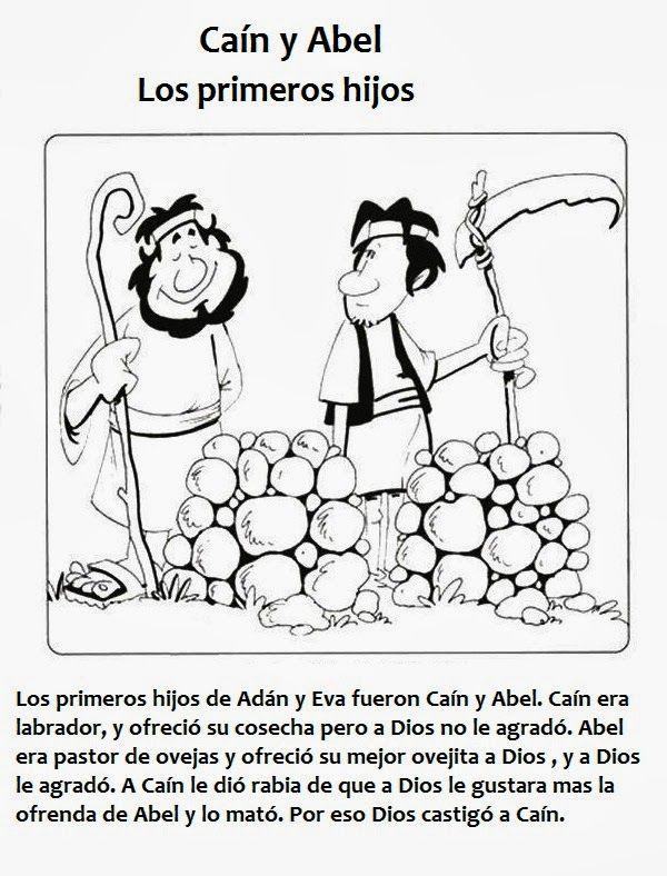 Actividades para colorear de Caín y Abel | Caín y Abel | Brother