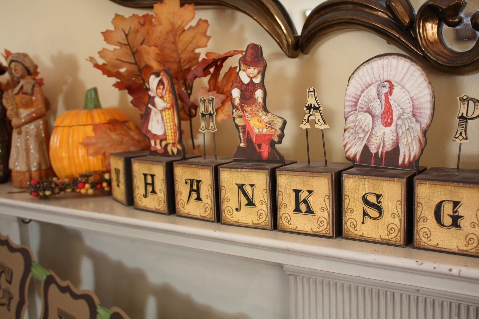 17 Best images about Thanksgiving ideas – Thanksgiving Mantel Decorations