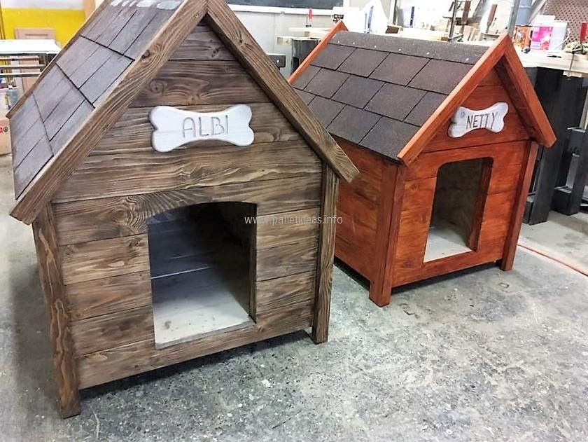 Wood Pallet Dog Houses Dog House Diy Wooden Dog House