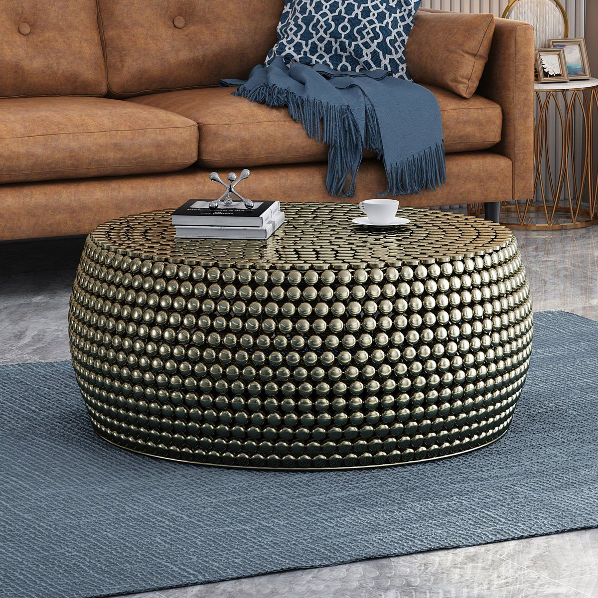 Cassie Modern Textured Iron Coffee Table Iron Coffee Table Coffee Table Coffee Table Setting [ 1200 x 1200 Pixel ]