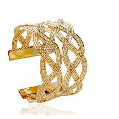 Bracelet Cuff Bracelet Alloy Tube Fashion Jewelry Gift Gold / Silver,1pc - EUR € 0.97