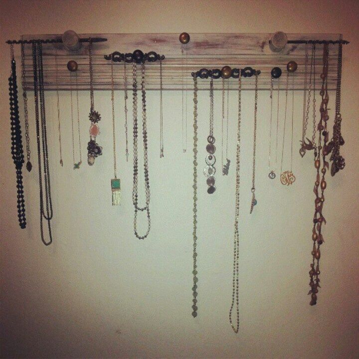 Homemade necklace holder | The Crown Jewels