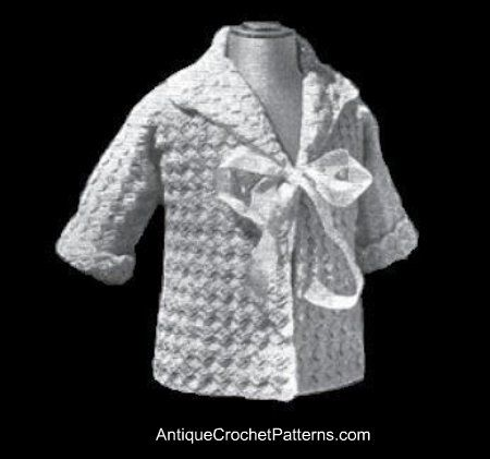 Free Baby Matinee Coat Pattern Easy Crochet Pattern For A Sweater