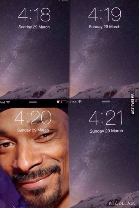 There's a software that would change your lockscreen wallpaper to snoop when it's that time.