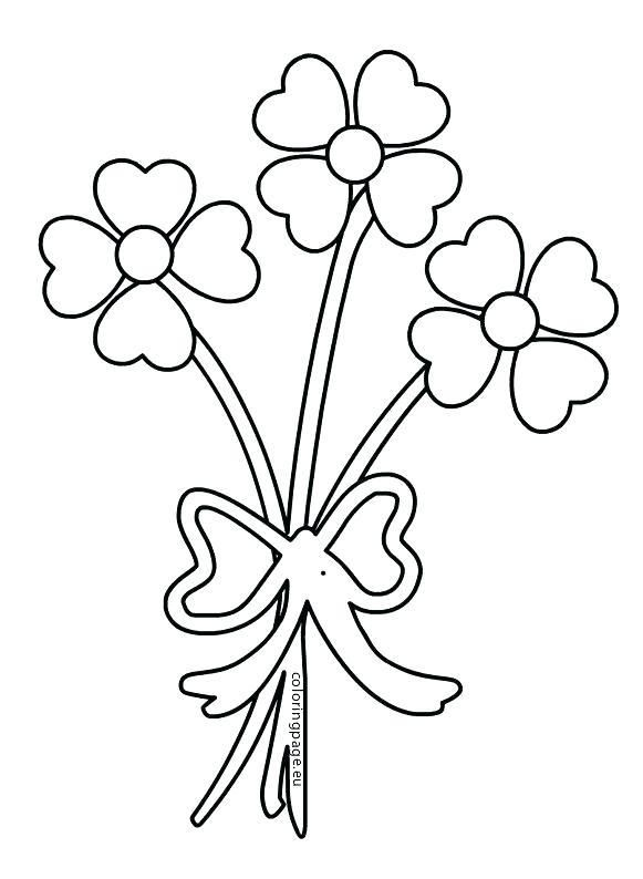 Bouquet Of Flowers Coloring Page Daisy Bouquet Coloring
