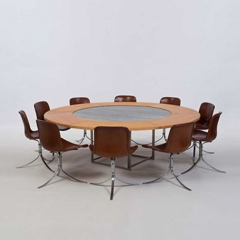 furniture poul kjaerholm pk54. Poul Kjaerholm PK 54 Table With Leaves And 9 Chairs Furniture Pk54 B