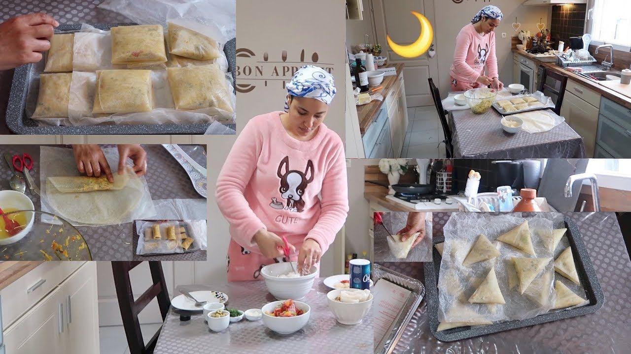 من قلب مطبخي جديد تحضيرات رمضان6 2018 بسطيلات صغار بريوات مالحين سيكارات رووعة 3حشوات Youtube Food And Drink Food Bon App