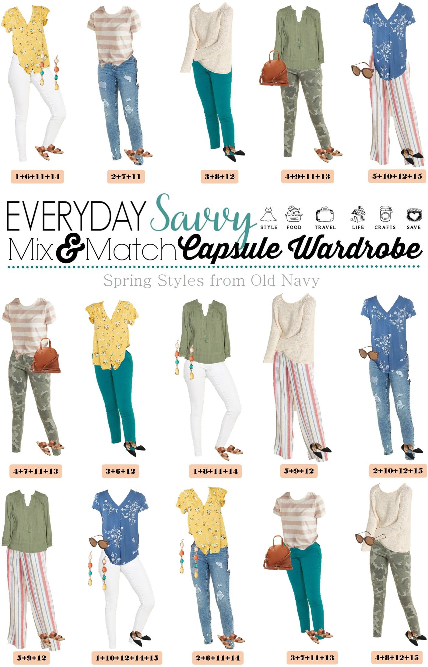 Casual Spring Outfits from Old Navy - Spring Outfit Ideas  Spring