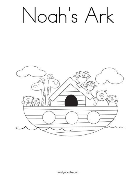 Noah\'s Ark Coloring Page - you can change the words | Jesus ...