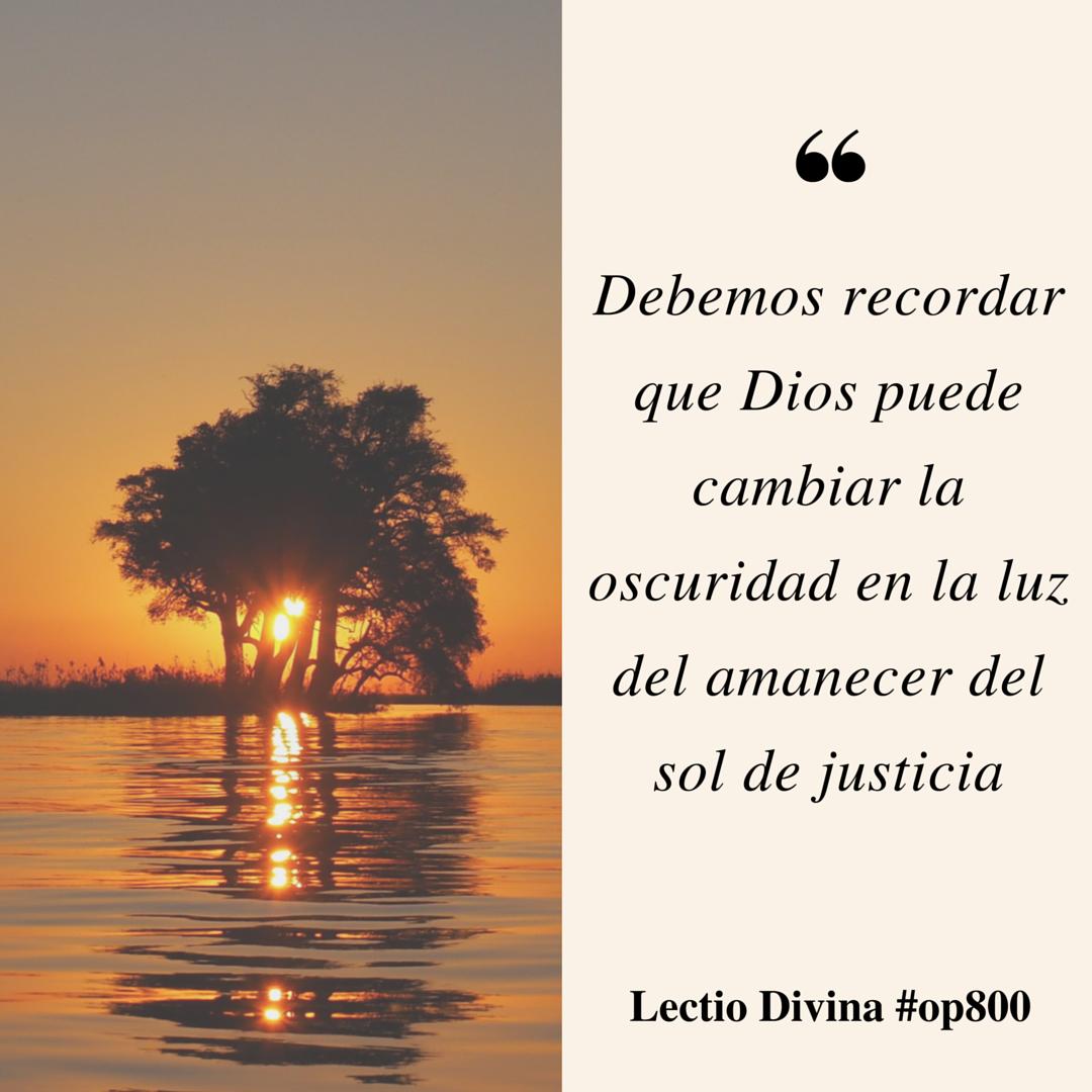 Dios Puede Cambiar La Oscuridad En La Luz Del Amanecer Del Sol De Justicia Lectiodivina Http Www Op Org Es Lectio 2 Sol De Justicia Justicia Divina Amanecer