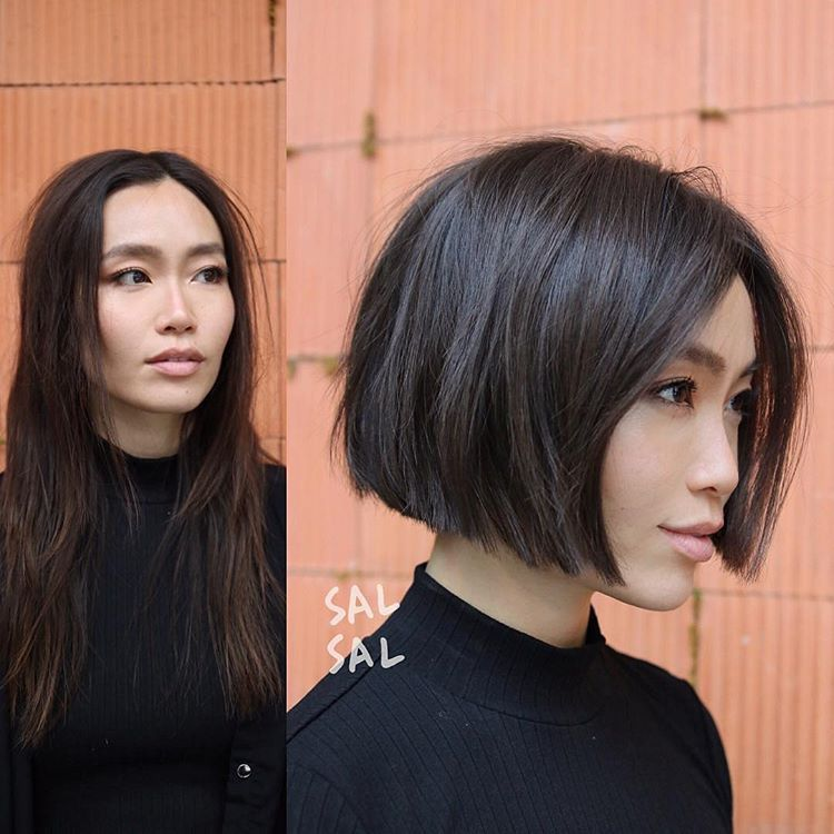 No 1 Hair Platform In Asiaさんはinstagramを利用しています Hair Shorthair Makeover Transformation By Salsalhair Pho Hair Styles Short Hair Styles Blunt Bob Haircuts
