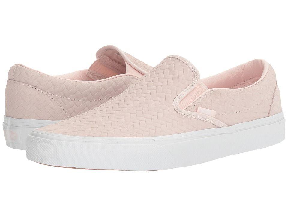 c462cddfa4e VANS VANS - CLASSIC SLIP-ONTM ((EMBOSSED WOVEN SUEDE) ROSE WATER) SKATE  SHOES.  vans  shoes