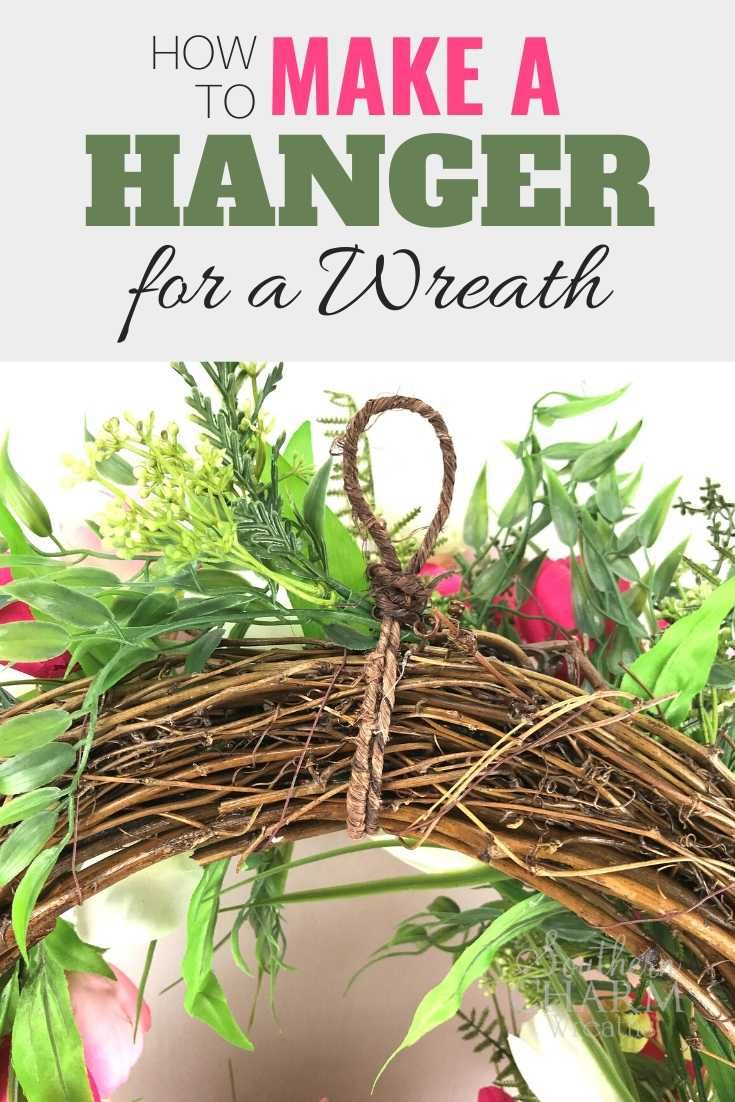 Every wreath you make needs a wreath hanger and they don't need to be hard to create. Learn to make quickly make a wreath hanger for silk flower wreaths and deco mesh wreaths. #wreathmaking #wreaths #howtomakewreaths #grapevine #diy