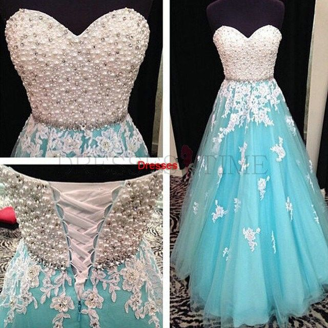 Buy 2015 A-line Beading Sweetheart Appliques Lace-up From Dresses SAPD-40028 Long Prom Dresses under $209.99 only in DressesTime.