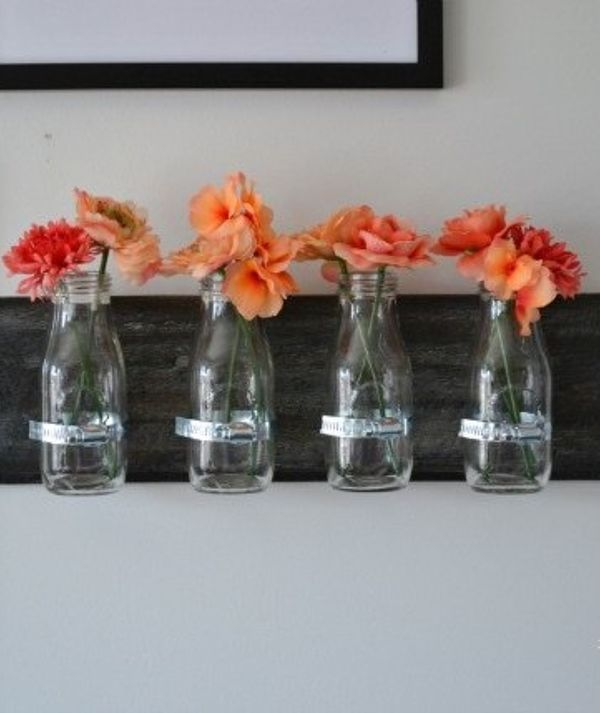 This Makeover Idea Costs Just 8 To Do But It Ll Make You Smile Every Time You Walk Into The Room Milk Jar Bottle Wall Decor