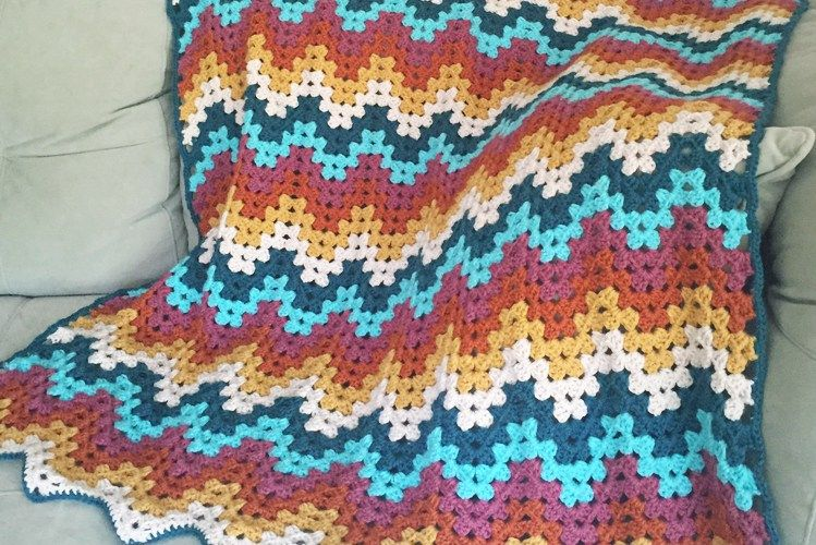 Crochet Granny Ripple Blanket: Free Pattern - Colour and Cotton | So ...