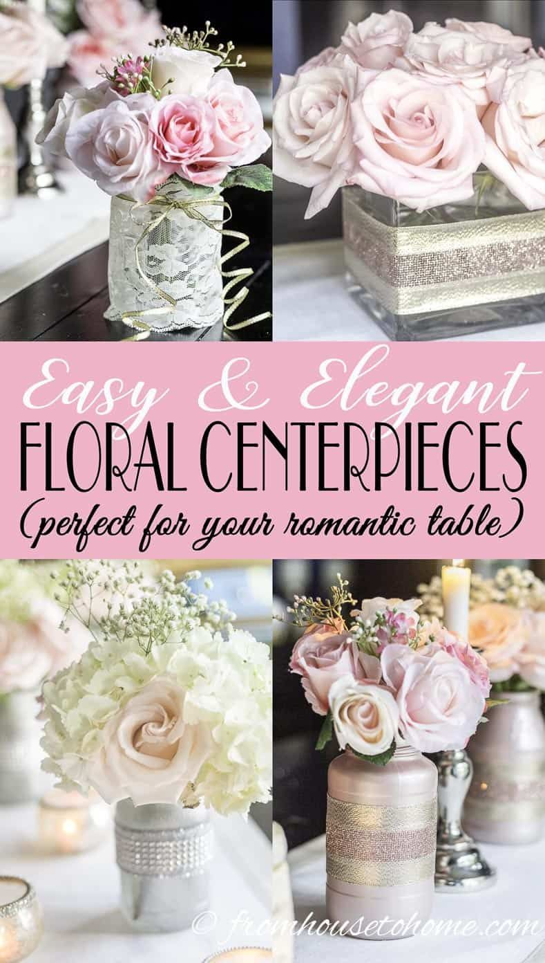 These easy floral centerpieces are simple enough to make yourself but still look elegant, perfect f
