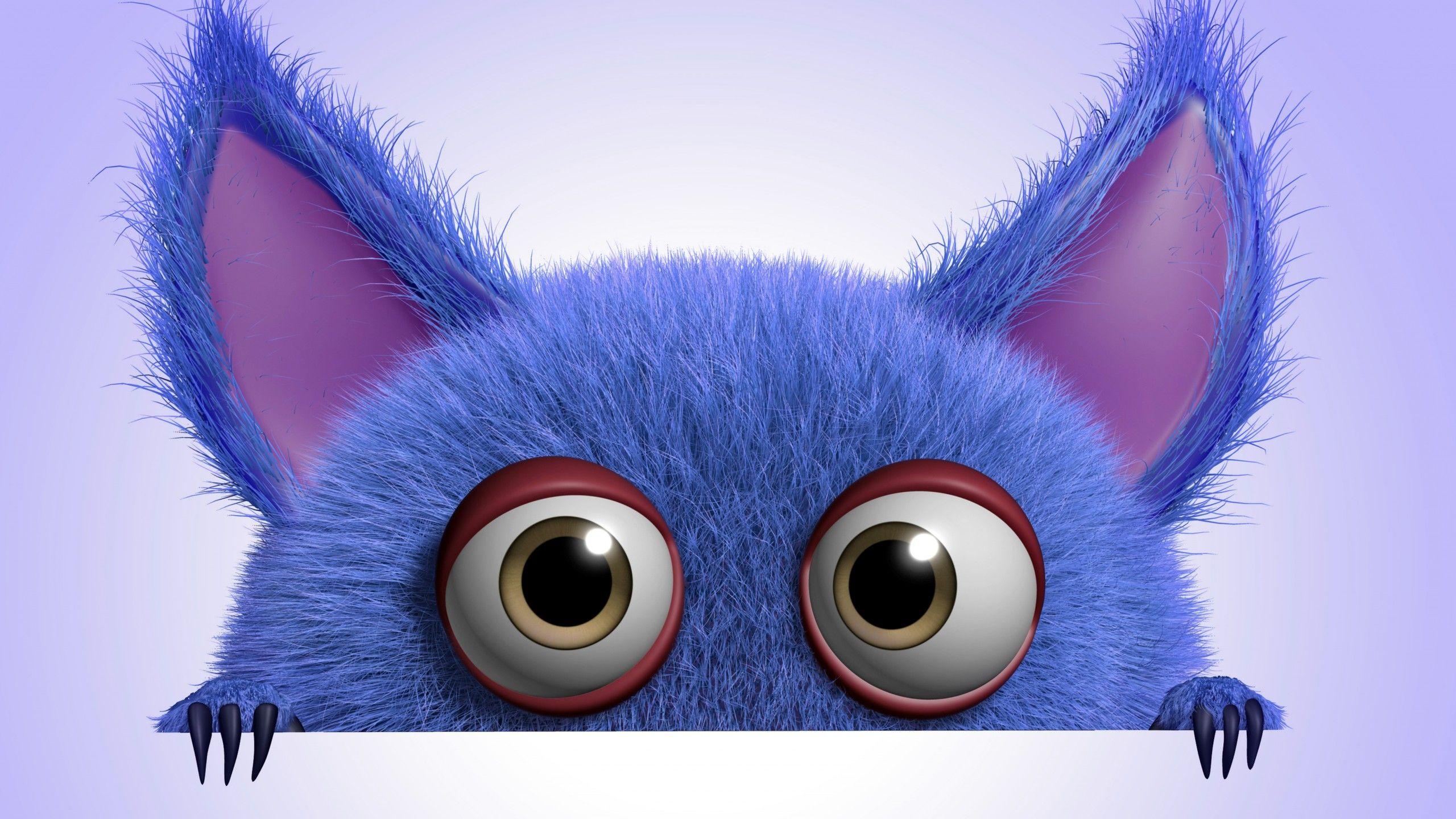 download wallpaper 3d funny monster cartoon cute