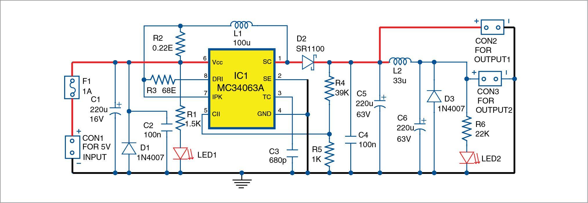 5v To 48v Dc Converter For Phantom Power Supplies Full Diy Project Phantom Power Power Supply Circuit Power Supply