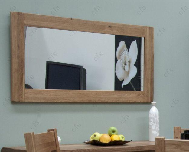 Homestyle Gb Rustic Oak Rectangular Large Mirror 64cm X