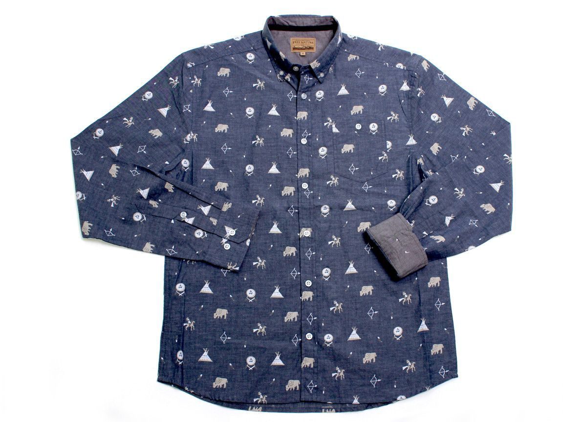 Tribes LS Button Up
