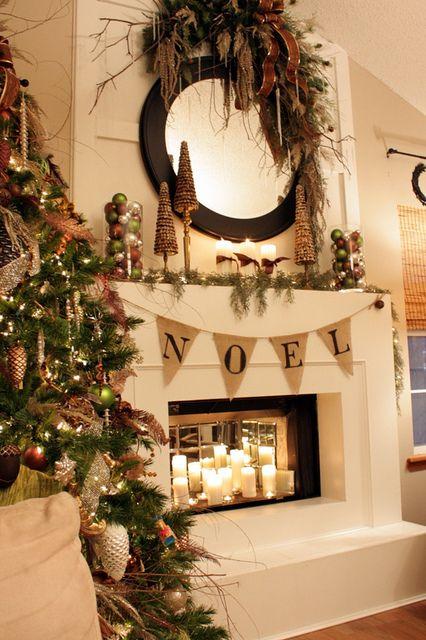 IMG_4569 Christmas mantels, Mantels and Swag - christmas fireplace decor
