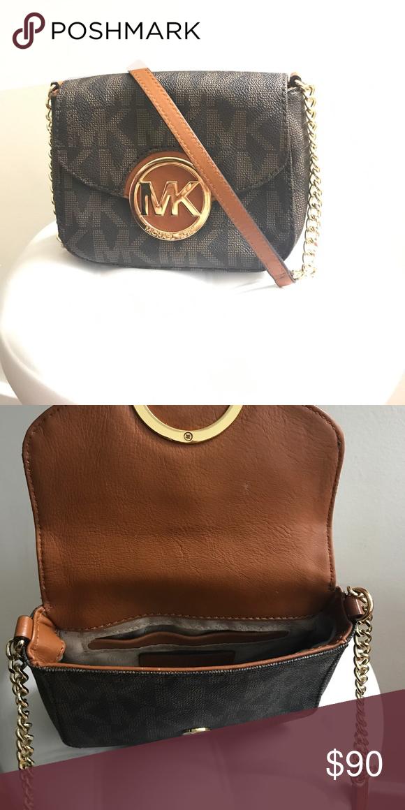 f25206913ab1 Michael Kors Fulton Crossbody Bag 100 % authentic women's small michael  kors fulton flap gusset mk