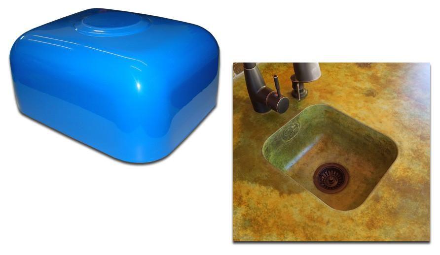 Concrete Countertop Rubber Sink Mold Spd 39 Mini Prep Bar With