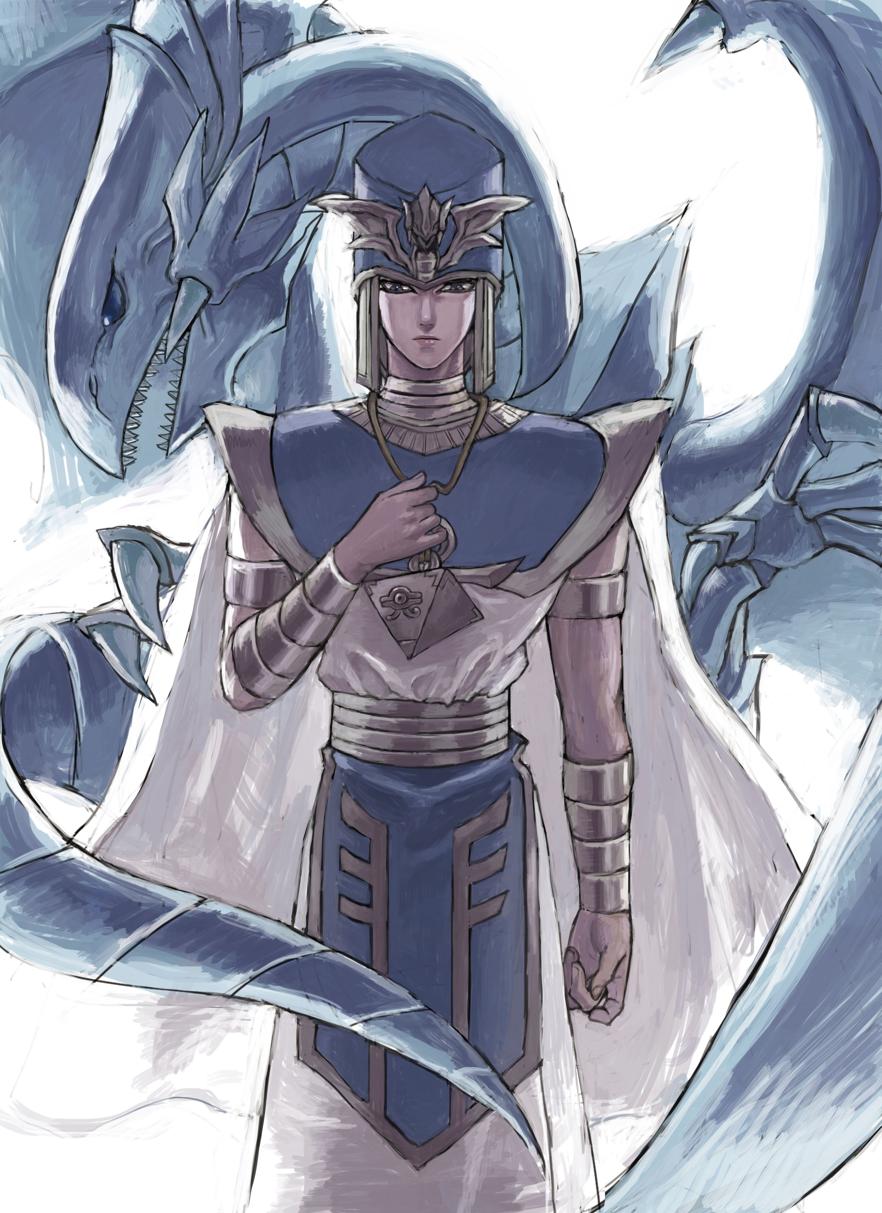 tags fanart yu gi oh blue eyes white dragon kaiba seto