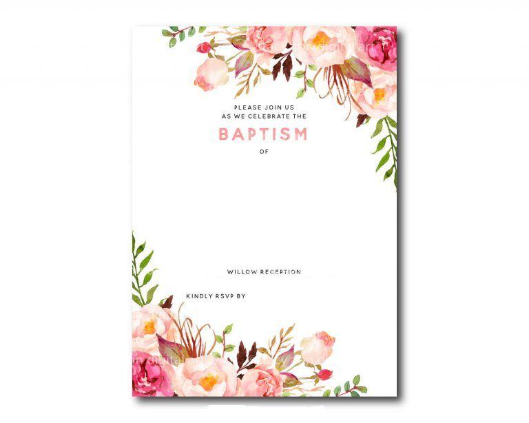 free printable baptism floral