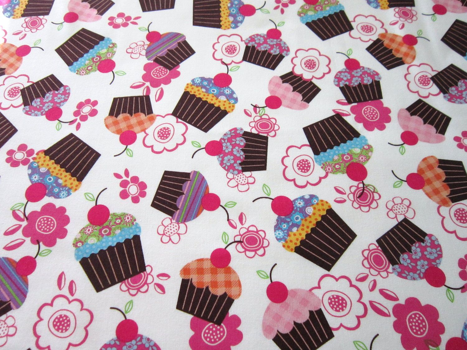 Personalized Baby Quilt Girl Cupcake Crib Quilt Pink by diningout, $93.00