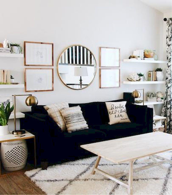 80 DIY Floating Shelves for Living Room Decorating   Mid century ...