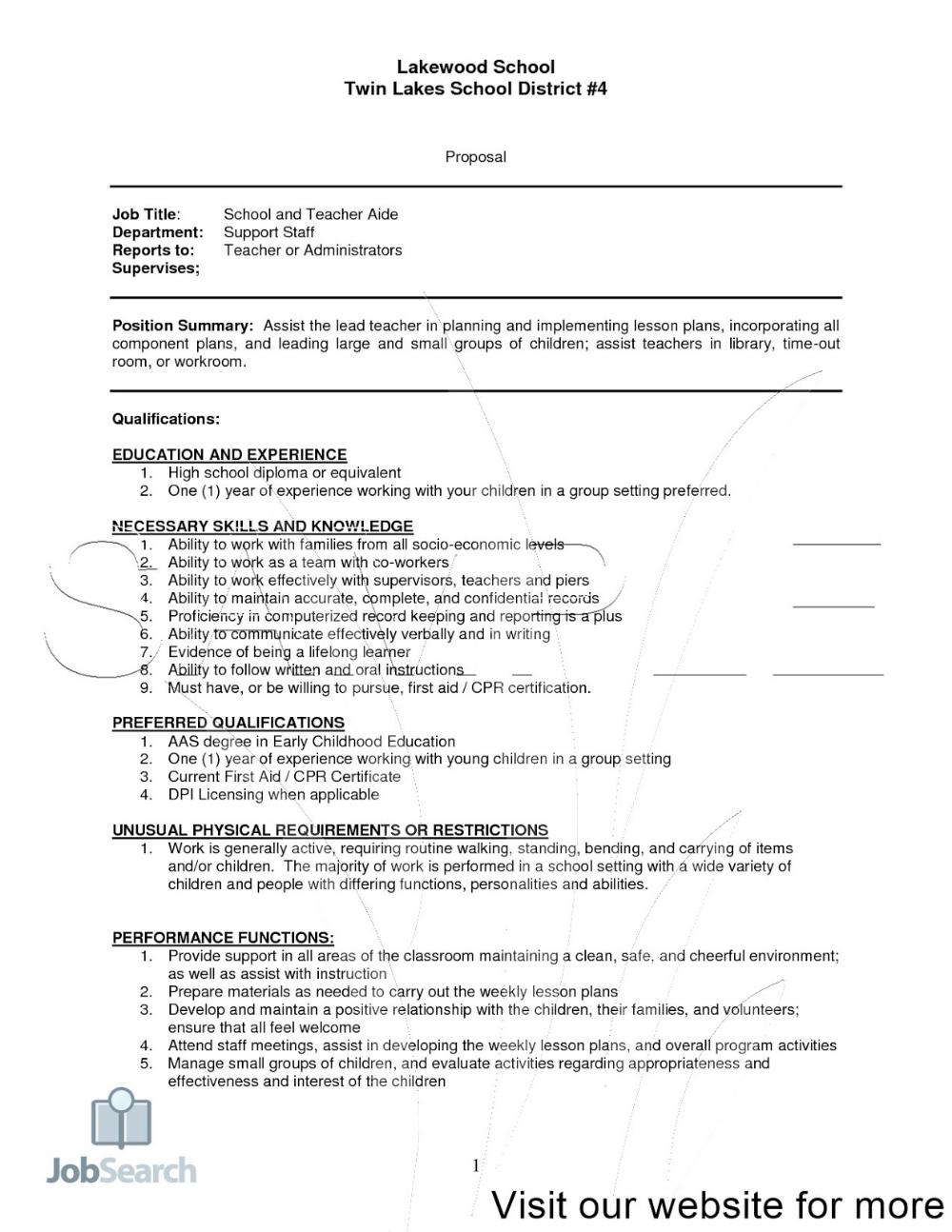Preschool Teacher Resume Samples Free 2020 In 2020 Preschool Teacher Resume Teaching Resume Examples Teacher Resume