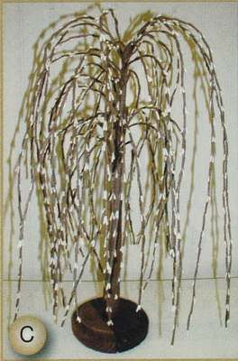 Superieur 14 Inch Cream Primitive Weeping Willow Pip Berry Tree Home Decor
