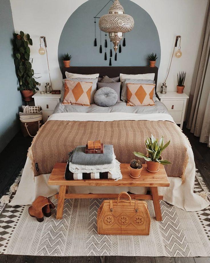 25 + › ELF Made By Hand auf Instagram: Boho Schlafzimmer Ziel über @tatjanas_worl … #bohobedroom