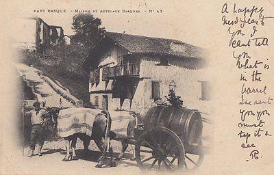 PAYS BASQUE (France) : Maison et Attelage Basques -undivided back