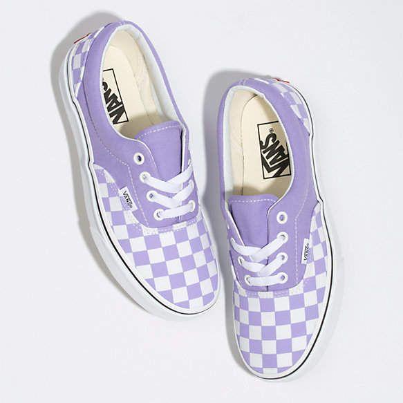 Checkerboard Era   Purple vans, Slip on