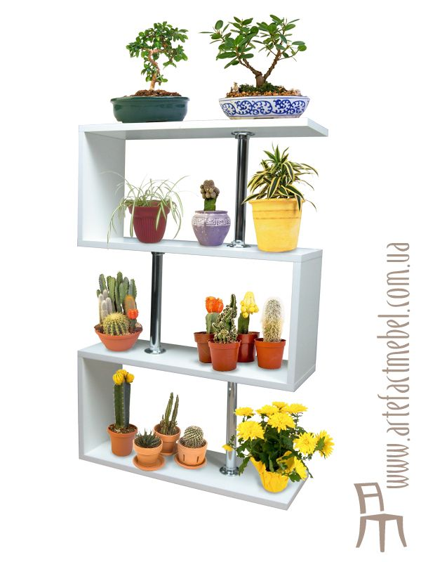 Стеллаж для цветов Shelving For Flowers On The Windowsill