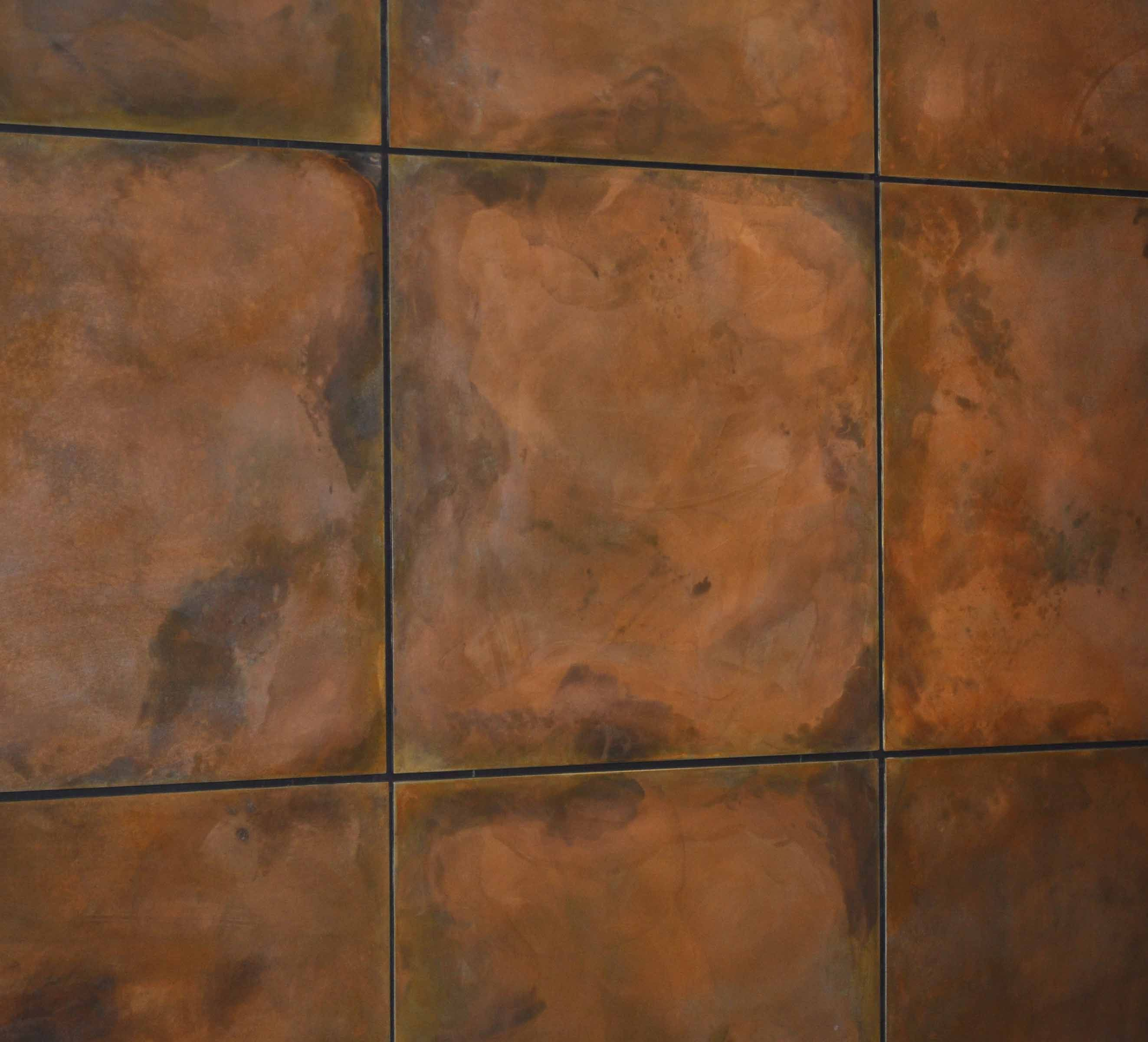Burnt Copper Z Clipped Floating Steel Wall Panels Brandner Design Steel Wall Exterior Wall Panels Copper Wall