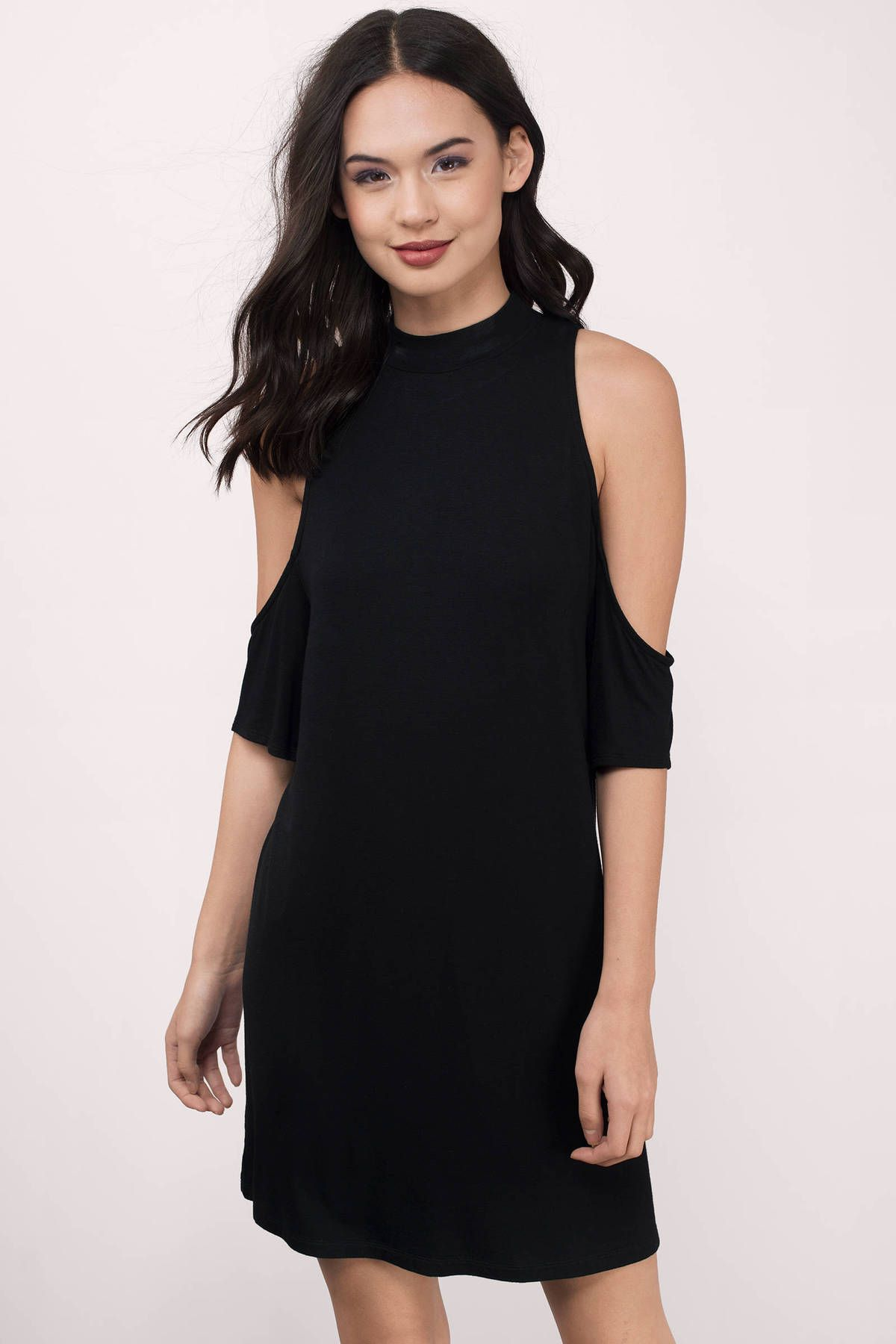 5f368547e9 Juna Cold Shoulder Shift Dress at Tobi.com  shoptobi