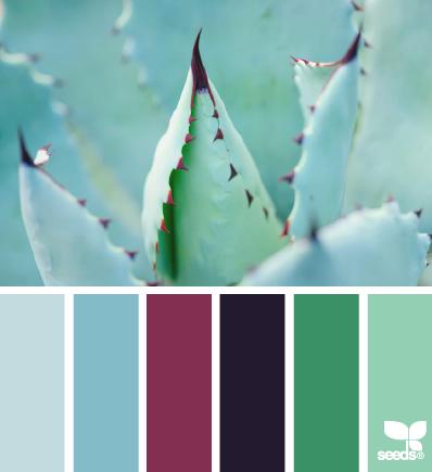 blau, violett, grün