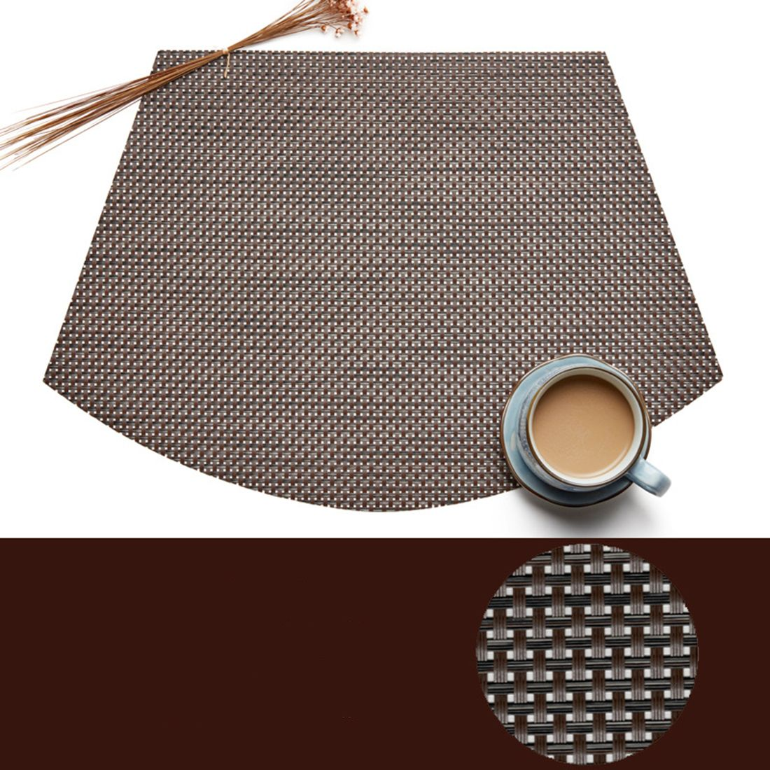 Pvc Wedge Placemats For Round Table Set Of 6 Coffee Placemats For Round Table Dinning Table Set Placemats Patterns