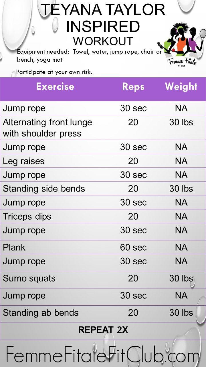 Teyana Taylor Inspired Workout